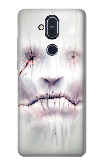 Printed Horror Face Nokia 8.1, Nokia X7 Case