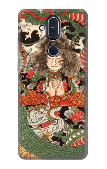 Printed Japan Art Dragon and Tawara Toda Nokia 8.1, Nokia X7 Case