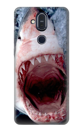 Printed Jaws Shark Mouth Nokia 8.1, Nokia X7 Case