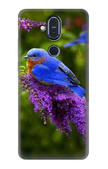 Printed Bluebird of Happiness Blue Bird Nokia 8.1, Nokia X7 Case