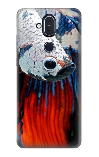 Printed Siamese Fighting Fish Nokia 8.1, Nokia X7 Case