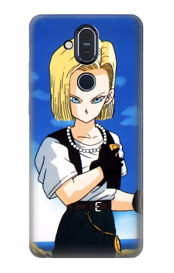 Printed Dragon Ball Z No 18 Nokia 8.1, Nokia X7 Case