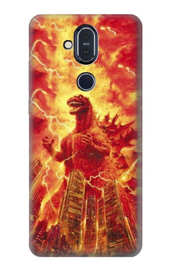 Printed Godzilla The Legend Is Reborn Nokia 8.1, Nokia X7 Case