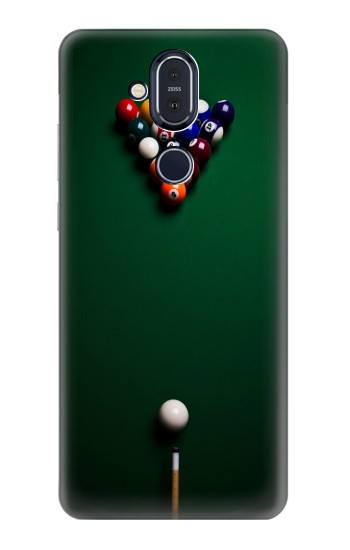 Printed Billiard Pool Nokia 8.1, Nokia X7 Case