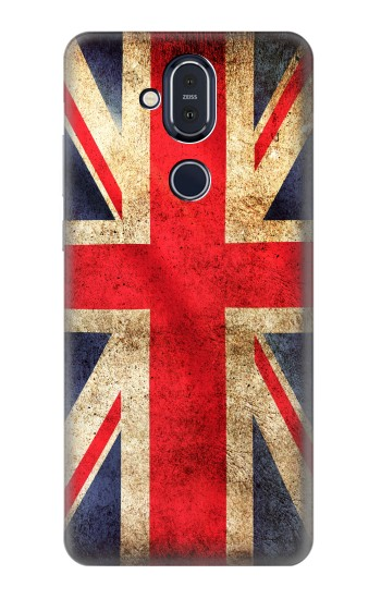Printed British UK Vintage Flag Nokia 8.1, Nokia X7 Case