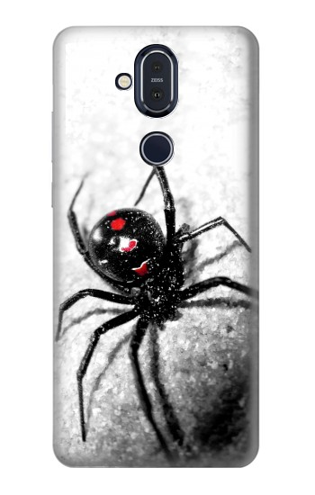 Printed Black Widow Spider Nokia 8.1, Nokia X7 Case