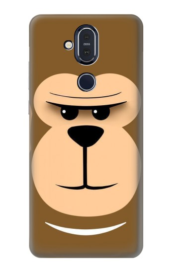 Printed Cute Monkey Cartoon Face Nokia 8.1, Nokia X7 Case