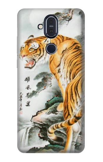 Printed Chinese Tiger Painting Tattoo Nokia 8.1, Nokia X7 Case