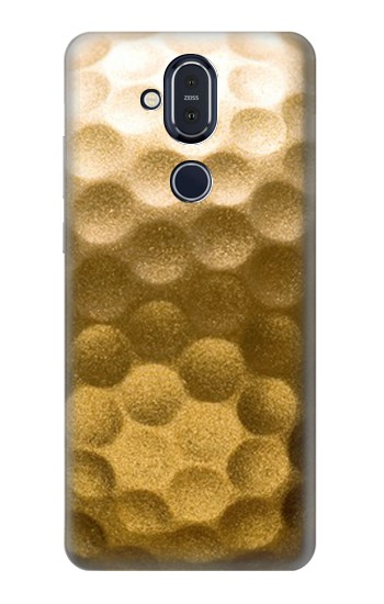 Printed Gold Golf Ball Nokia 8.1, Nokia X7 Case