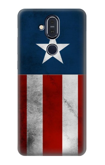 Printed Captain Star Flag of America Nokia 8.1, Nokia X7 Case
