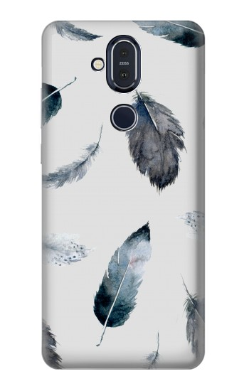 Printed Feather Paint Pattern Nokia 8.1, Nokia X7 Case