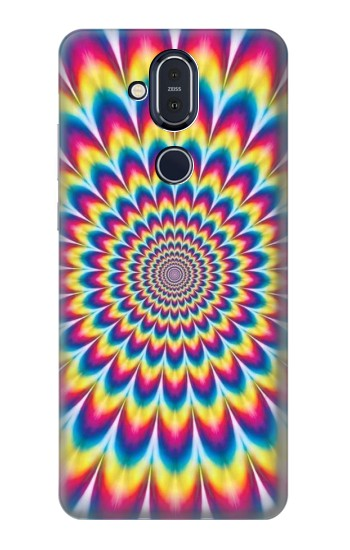 Printed Colorful Psychedelic Nokia 8.1, Nokia X7 Case
