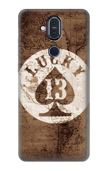 Printed Lucky 13 Old Map Nokia 8.1, Nokia X7 Case
