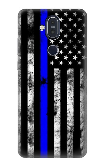 Printed Thin Blue Line USA Nokia 8.1, Nokia X7 Case