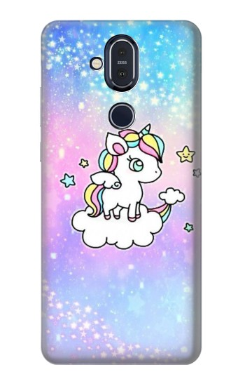 Printed Cute Unicorn Cartoon Nokia 8.1, Nokia X7 Case