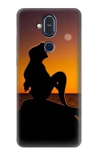 Printed Mermaid Sunset Nokia 8.1, Nokia X7 Case