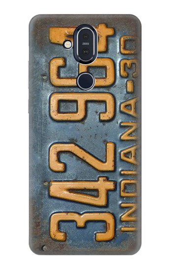 Printed Vintage Vehicle Registration Plate Nokia 8.1, Nokia X7 Case
