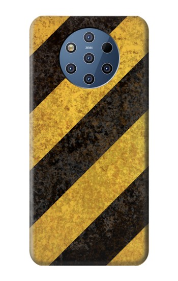 Printed Yellow and Black Line Hazard Striped Nokia 9 PureView Case