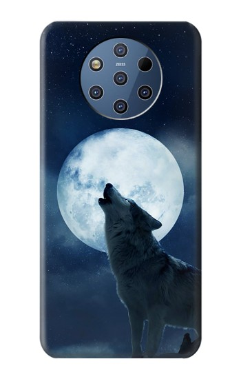 Printed Grim White Wolf Full Moon Nokia 9 PureView Case