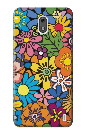 Printed Colorful Flowers Pattern Nokia 2 Case