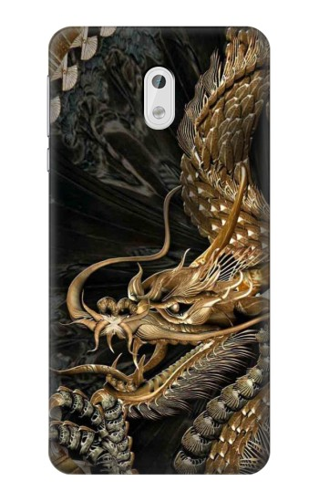 Printed Gold Dragon HTC Desire 500 Case
