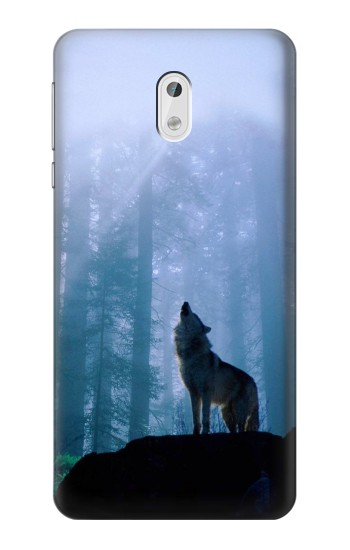 Printed Wolf Howling in Forest HTC Desire 500 Case