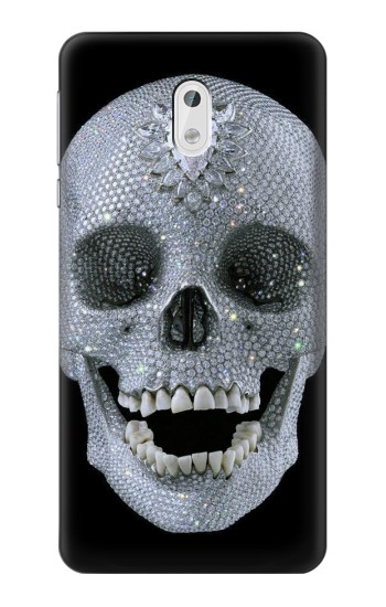 Printed Diamond Skull HTC Desire 500 Case