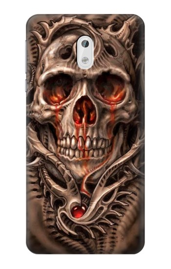 Printed Skull Blood Tattoo HTC Desire 500 Case