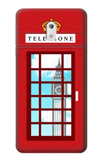 Printed England Classic British Telephone Box Minimalist HTC Desire 500 Case