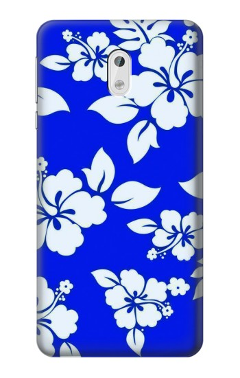 Printed Hawaiian Hibiscus Blue Pattern HTC Desire 500 Case