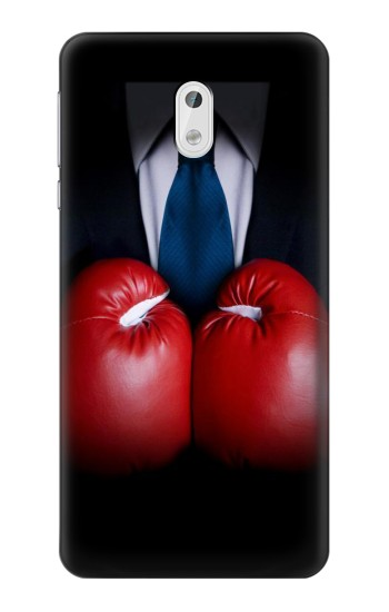 Printed Businessman In Black Suit With Boxing Gloves HTC Desire 500 Case