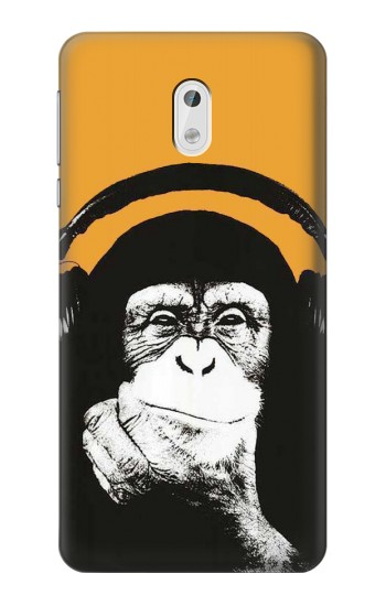 Printed Funny Monkey with Headphone Pop Music HTC Desire 500 Case