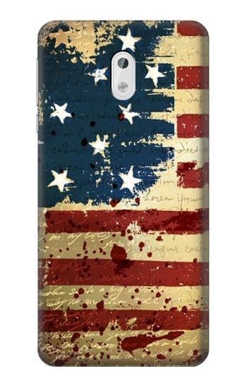 Printed Old American Flag HTC Desire 500 Case