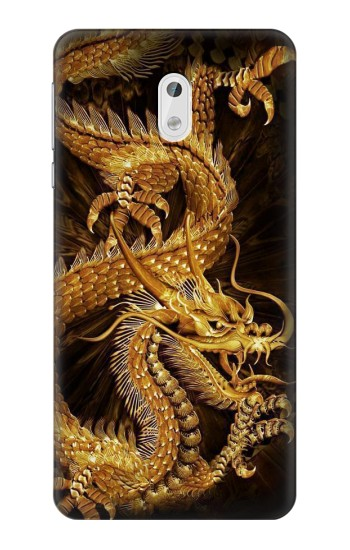 Printed Chinese Gold Dragon Printed HTC Desire 500 Case