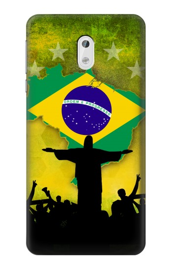 Printed Brazil Football Flag HTC Desire 500 Case