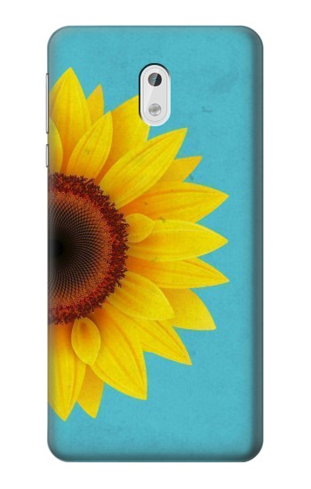 Printed Vintage Sunflower Blue HTC Desire 500 Case