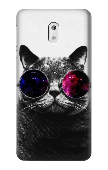 Printed Cool Cat Glasses HTC Desire 500 Case