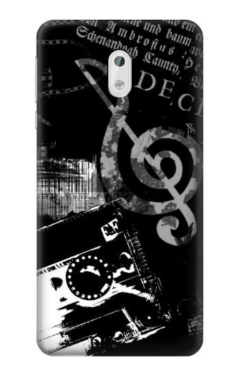 Printed Music Cassette Note HTC Desire 500 Case