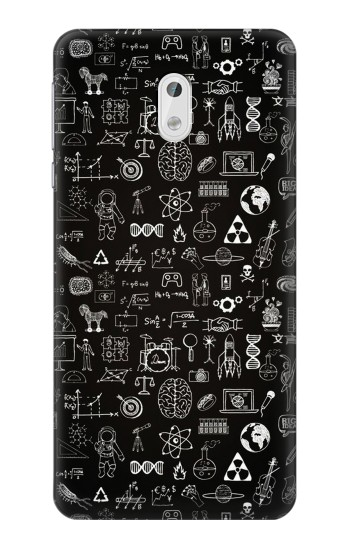 Printed Blackboard Science HTC Desire 500 Case