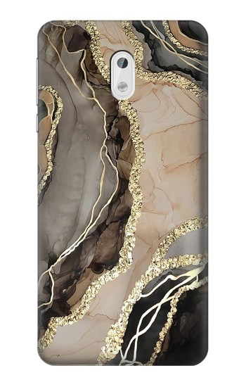 Printed Marble Gold Graphic Printed HTC Desire 500 Case