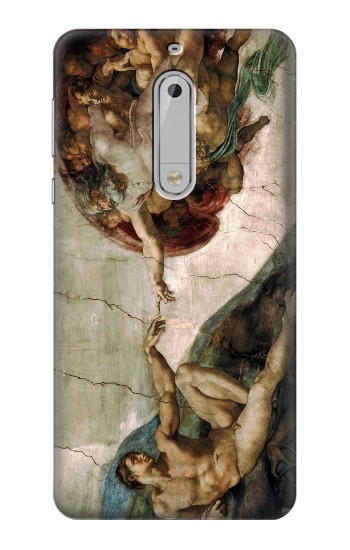 Printed Michelangelo The creation of Adam HTC Desire 510 Case