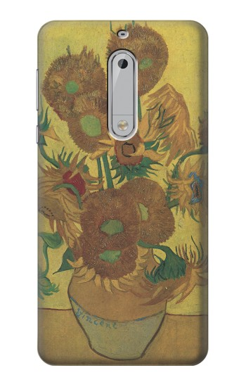 Printed Van Gogh Vase Fifteen Sunflowers HTC Desire 510 Case