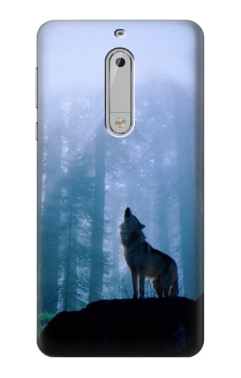 Printed Wolf Howling in Forest HTC Desire 510 Case