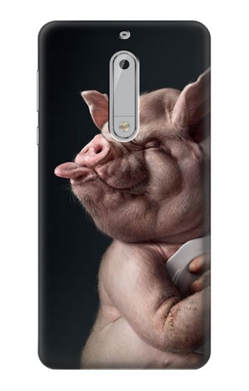 Printed Crazy Pig HTC Desire 510 Case