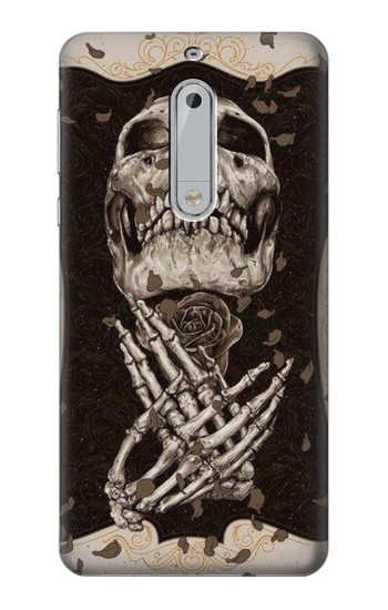 Printed Skull Rose HTC Desire 510 Case