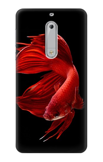 Printed Red Siamese Fighting Fish HTC Desire 510 Case