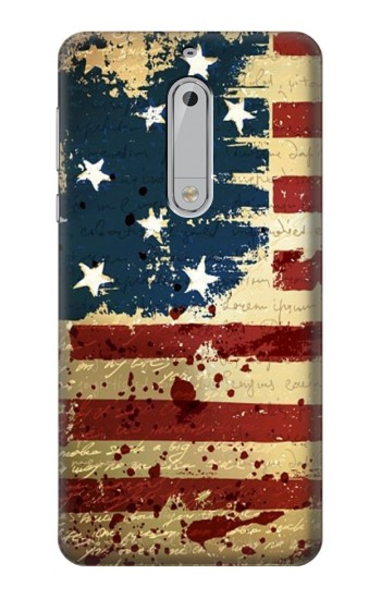 Printed Old American Flag HTC Desire 510 Case