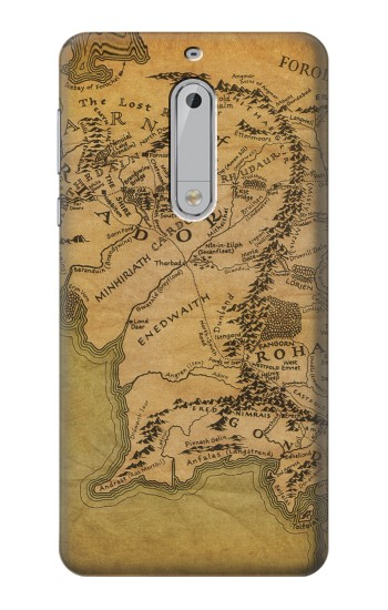 Printed The Lord Of The Rings Middle Earth Map HTC Desire 510 Case