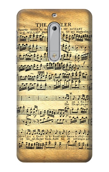 Printed The Fowler Mozart Music Sheet HTC Desire 510 Case