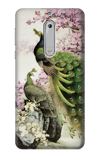 Printed Peacock Chinese Brush Painting HTC Desire 510 Case